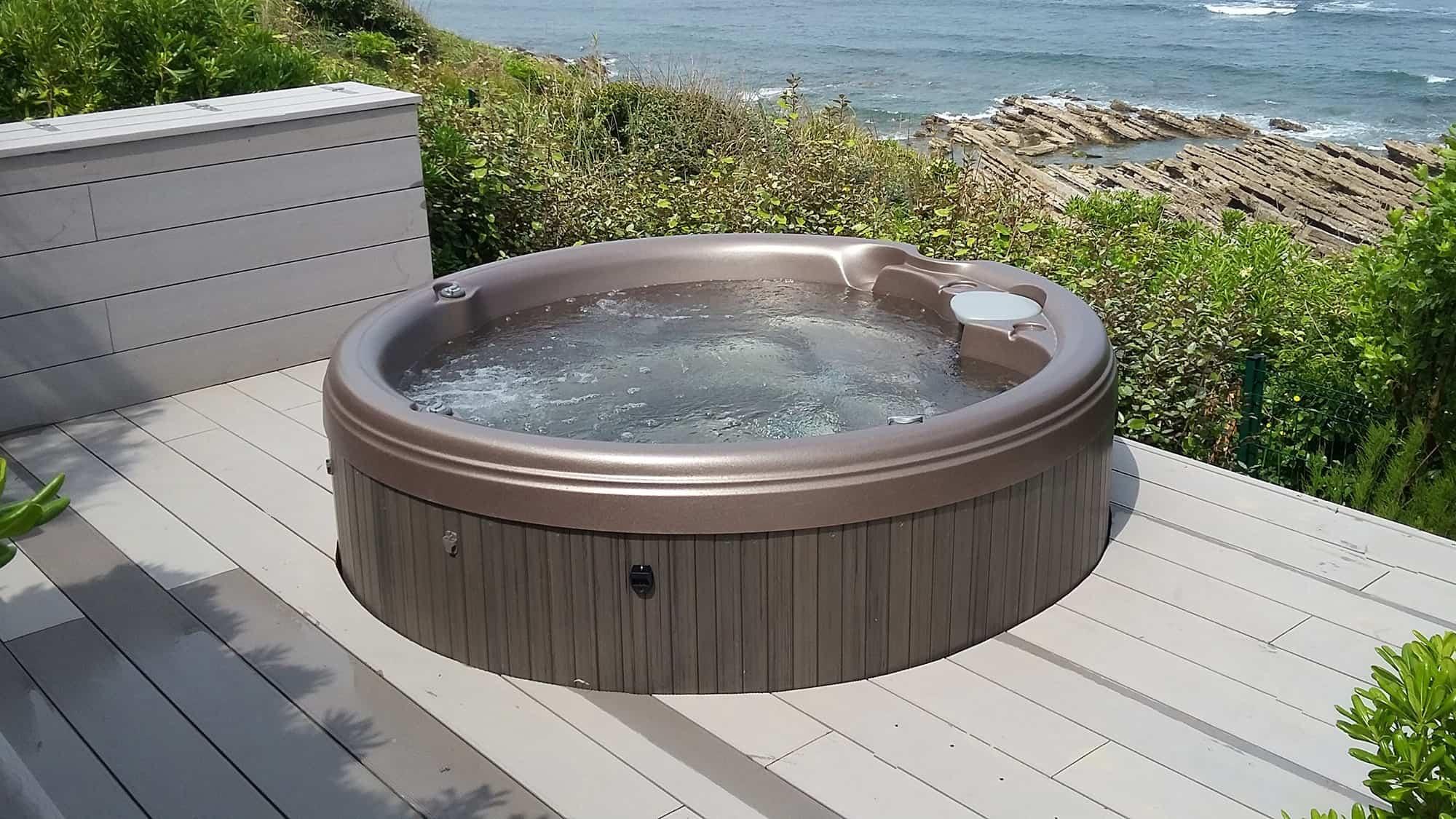 Sundance Spas round hot tub installation