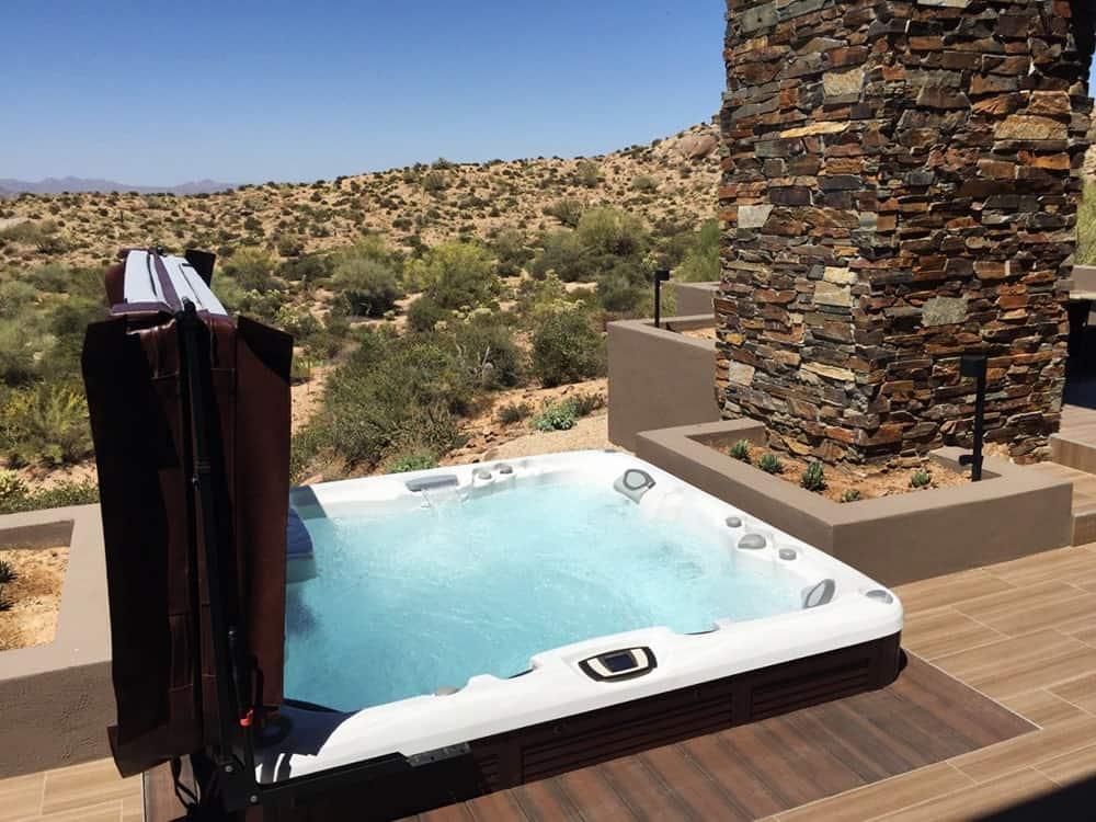 Sundance Spa installation in the desert