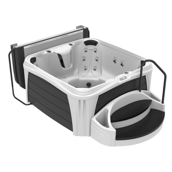 Square Glacier Sparkle Hot Tub from the Splash Collection