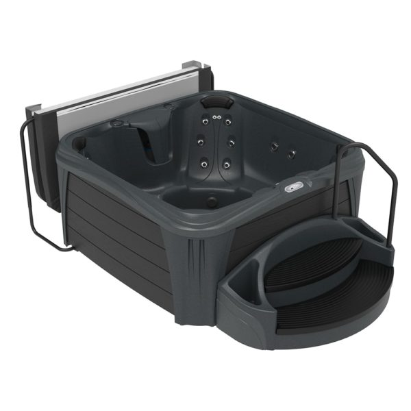 Square Midnight Sparkle Hot Tub from the Splash Collection
