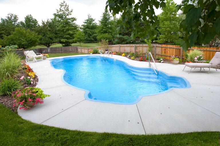 In-ground fiberglass pool installation Lafayette Indiana