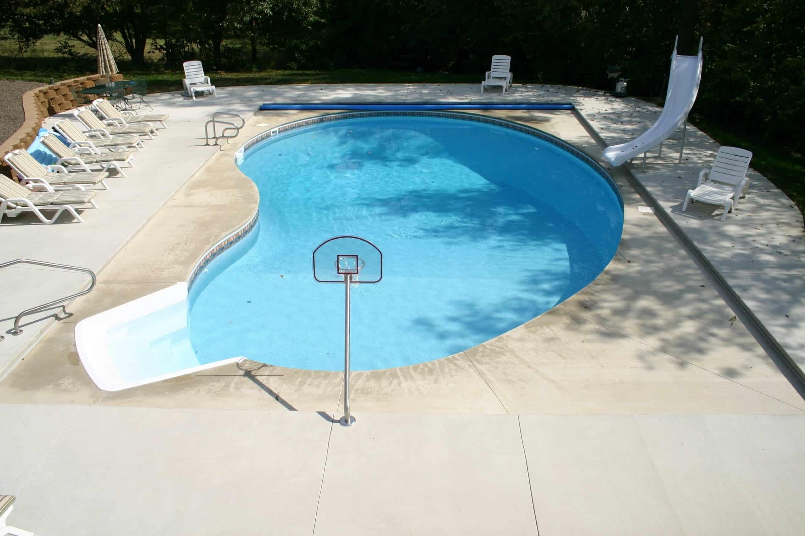 burton swimming pool in backyard