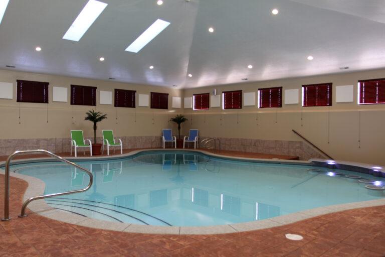 Custom indoor swimming pool by Aquarius pools and spas