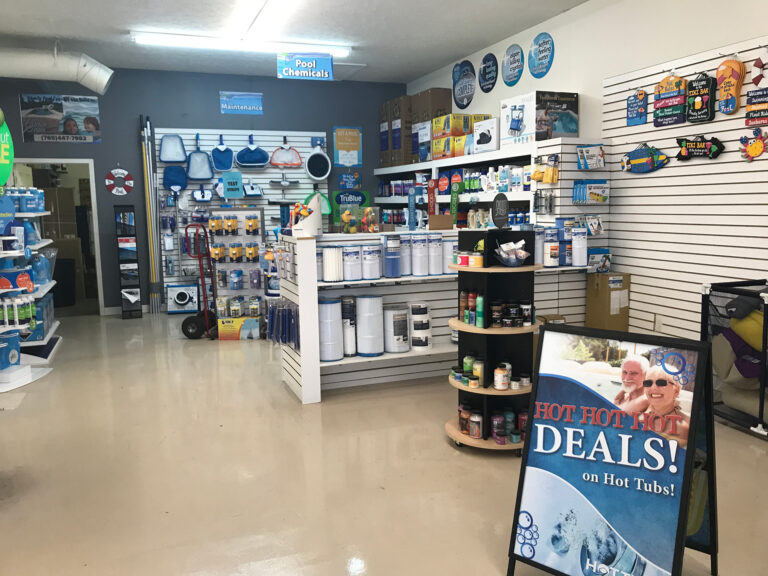 Aquarius pools and spas water care products Lafayette