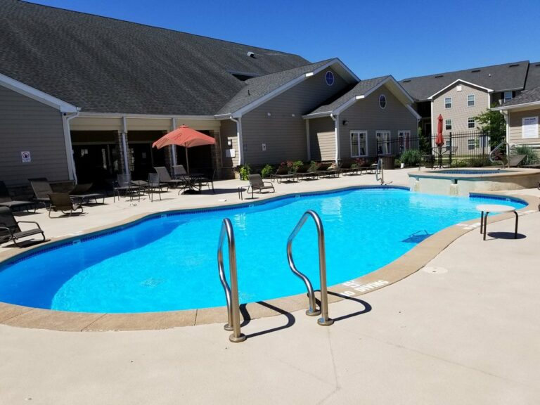 Commercial Pool installation by Aquarius pools and spas