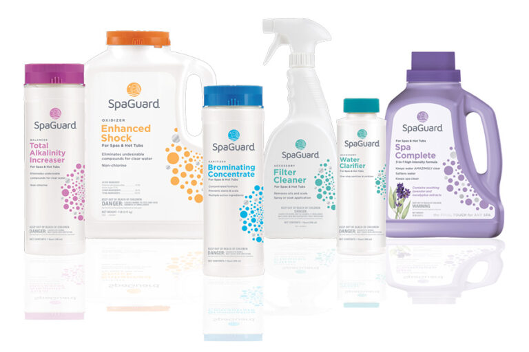 Spaguard pool and spa cleaning products