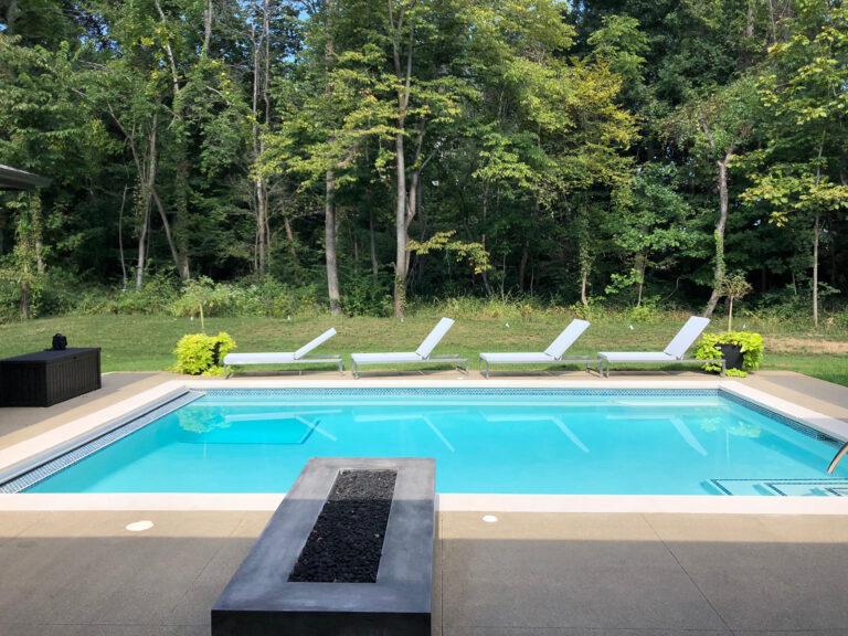 Gunite Pool Installation in Layfette Indiana